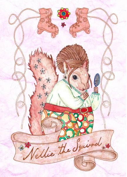 Character Postcard - Nellie the Squirrel.