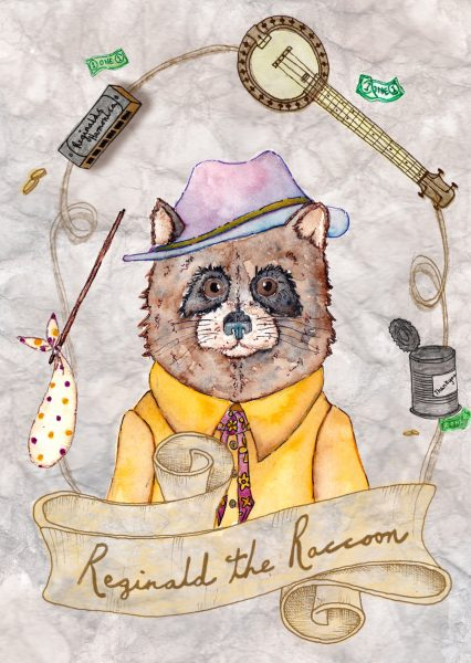 Character Postcard - Reginald the Raccoon