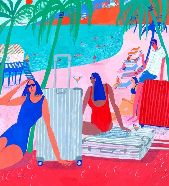 LA Beach Scene for Rimowa