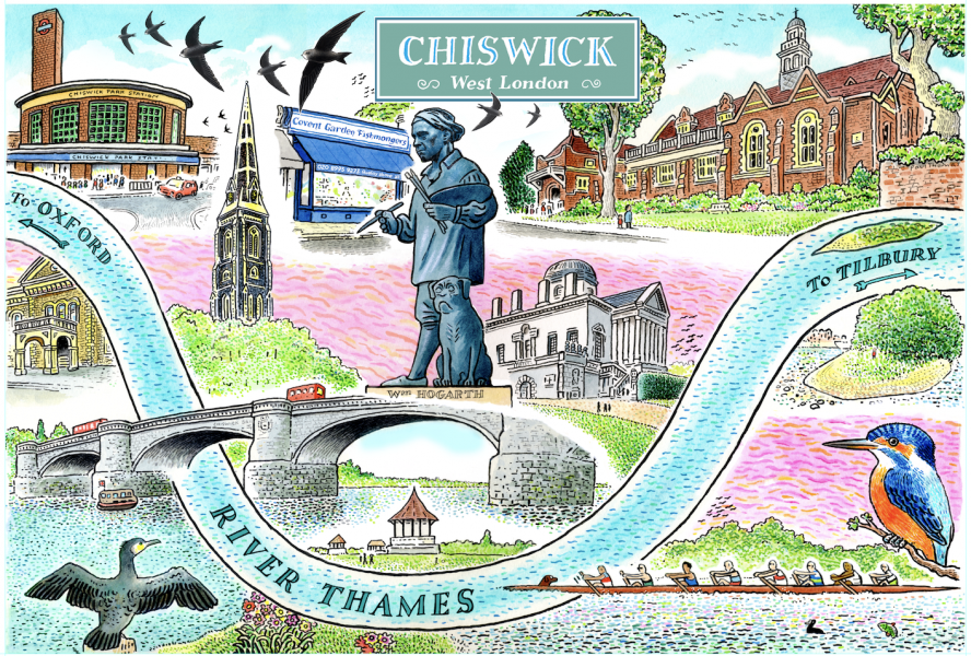 Map of Chiswick
