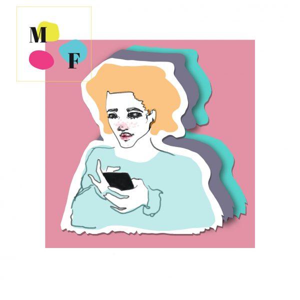 girl on phone