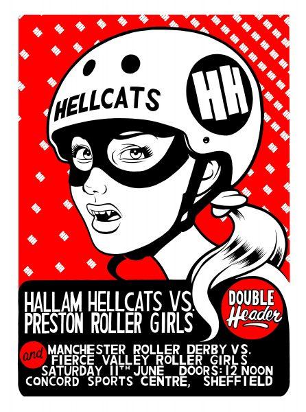 Hallam Hellcats roller derby.