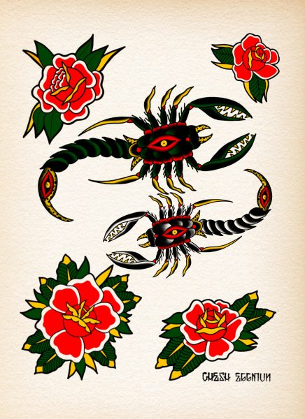 Scorpions and Roses flash