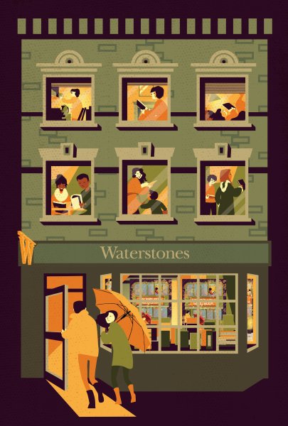 Waterstones shopfront for Gift Card range