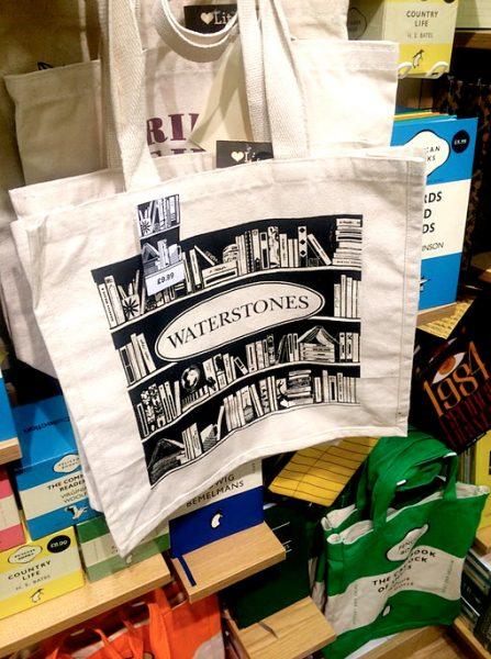 Waterstones tote bag