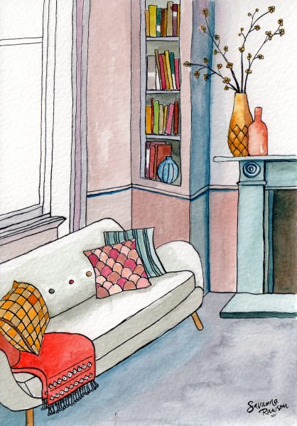 Watercolour Interior