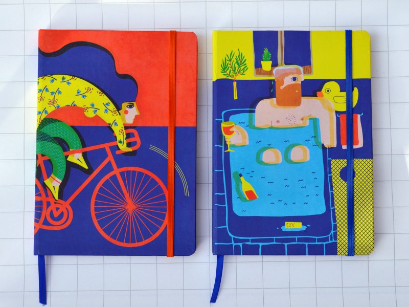 Illustrated notebooks for