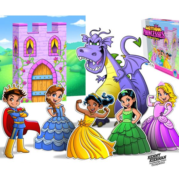 KENNY-KIERNAN-ILLUSTRATION-action-princesses-vector-anime-manga-boy-girl-dragon-castle-toy-game-commercial-illustrator-fantasy-toy-game-boardgame-videogame-character-design