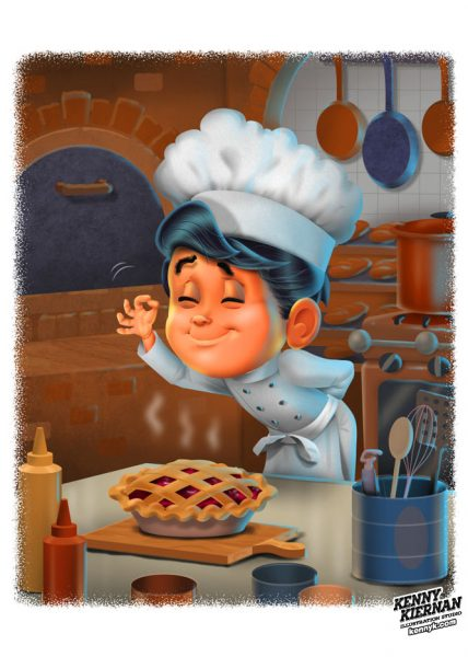 KENNY-KIERNAN-ILLUSTRATION-boy-chef-gourmet-cooking-children-book-publishing-illustrator-cookbook-toy-game-character-design