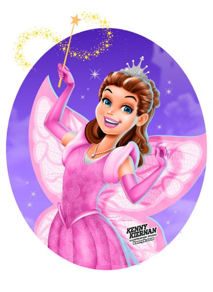 KENNY-KIERNAN-ILLUSTRATION-fairy-princess-wings-woman-magic-spell-wizard-commercial-illustrator-toy-children-character-design