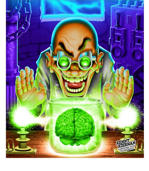KENNY-KIERNAN-ILLUSTRATION-mad-scientist-laboratory-brain-toy-game-commercial-illustrator-halloween-science-fiction-fantasy-toy-game-boardgame-videogame-character-design