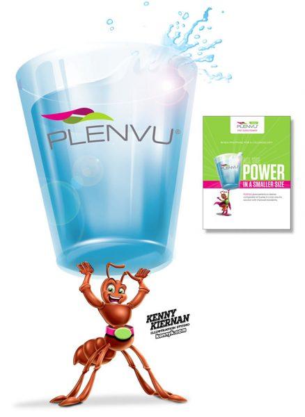 KENNY-KIERNAN-ILLUSTRATION-plenvu-ant-glass-water-pharmaceutical-pharma-advertising-commercial-illustrator-toy-brand-mascot-character-design