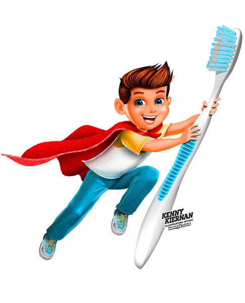 KENNY-KIERNAN-ILLUSTRATION-toothbrush-toothpaste-commercial-illustrator-toy-game-packaging-brand-mascot-character-design