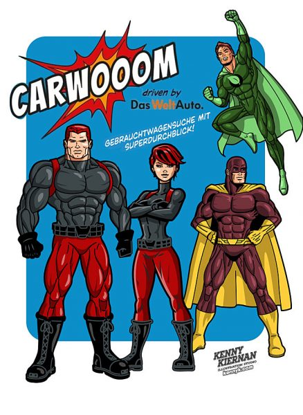 Kenny-Kiernan-Illustration-Studio-Carwooom-superhero-licensed-vector-character-advertising-publishing-strongcomic-book-strip-illustrator-brand-mascot-design-editorial