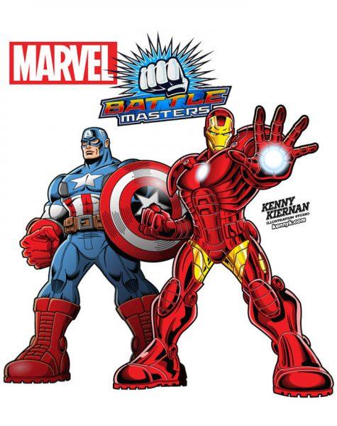 Kenny-Kiernan-Illustration-Studio-Marvel-Superhero-Captain-America-Iron-Man-Battle-Masters-comic-book-strip-packaging-game-boardgame-computer-videogame-vector-licensed-character