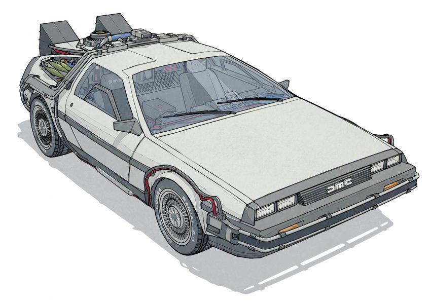 80's Movie Vehicles: The Delorean Time Machine