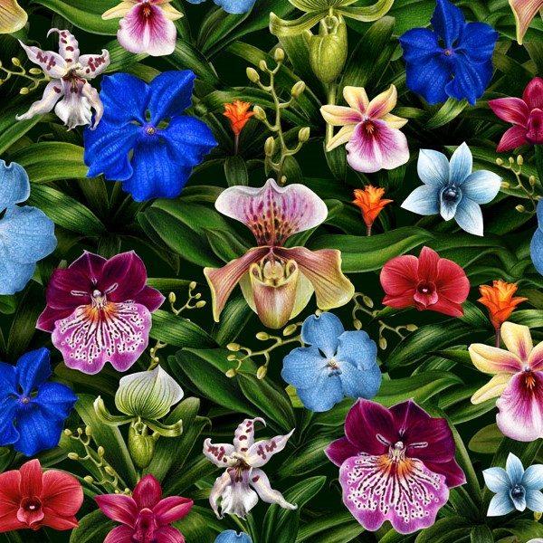 Orchids Festival Pattern