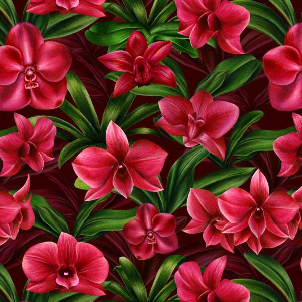 Red Orchid Pattern