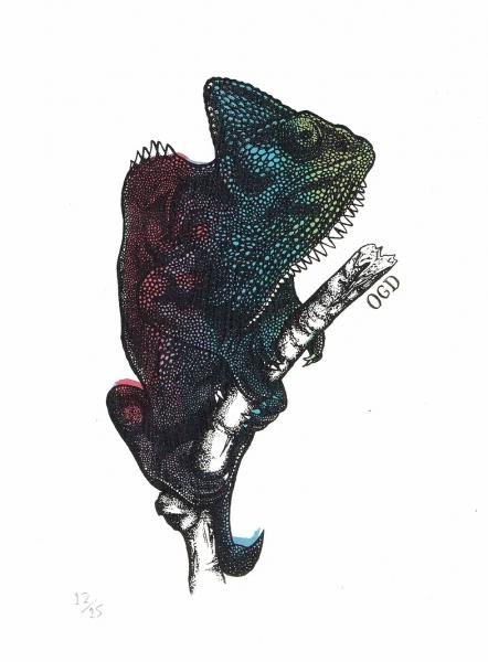Chameleon Screenprint