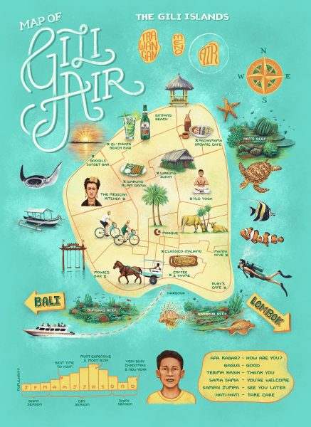 Gili Air map
