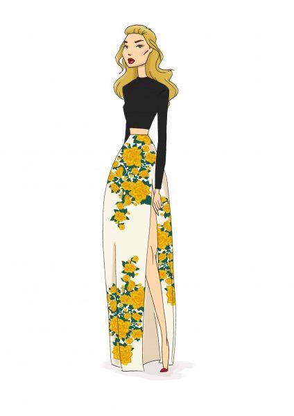 Fashion Yellow Rose