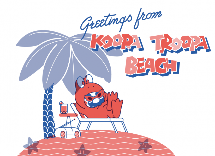 Greeting from Koopa Troopa Beach