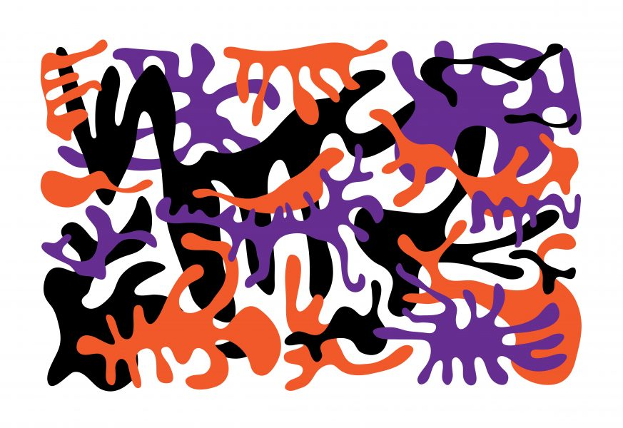 Orange Purple Black