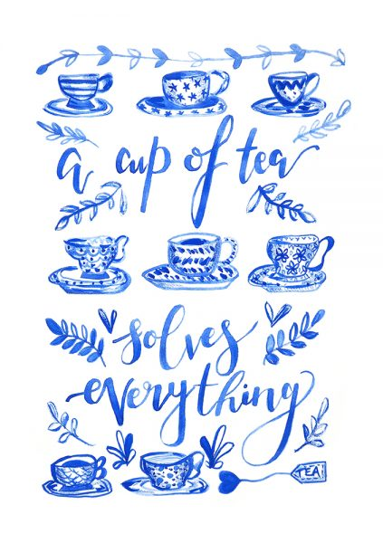 Milly England Tea Hand lettering