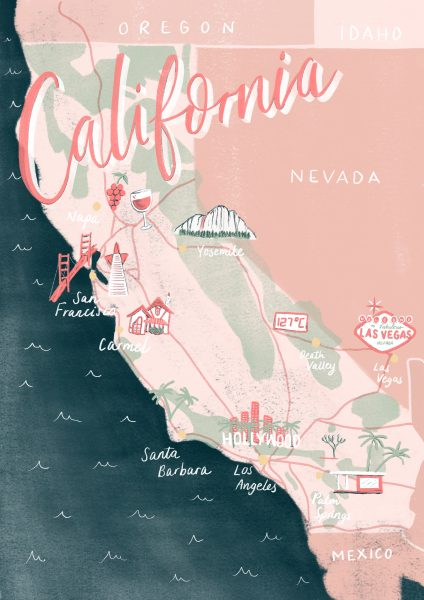 California Map Illustration