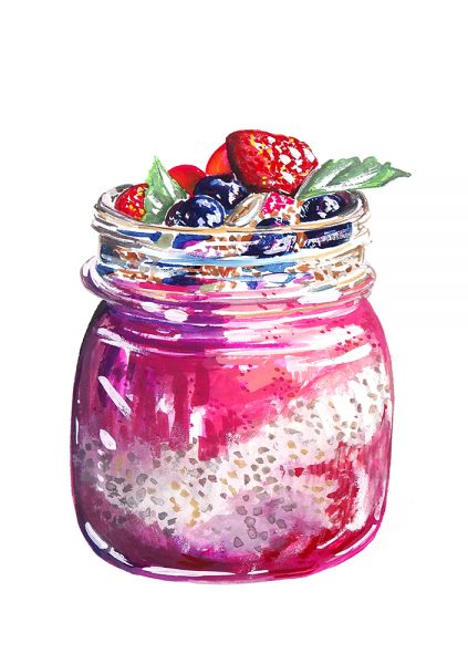 Milly England Chia pudding