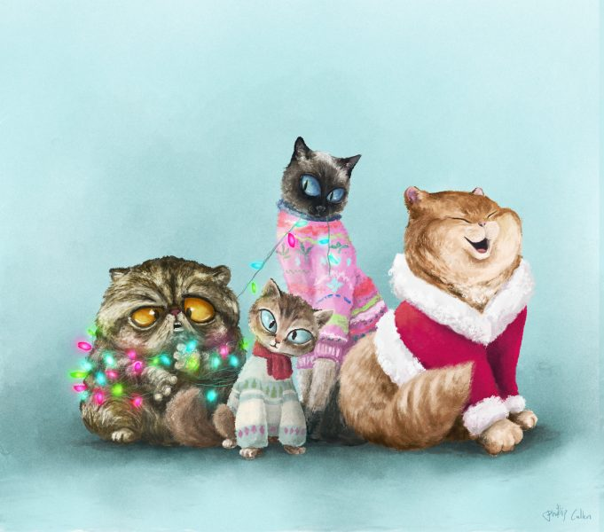 Festive felines