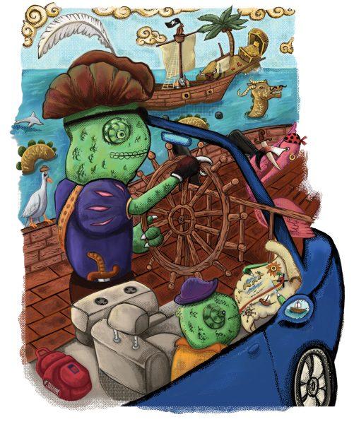 True Color Picture Book Pirate Scene