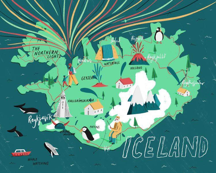 Iceland Map - Rachael Presky