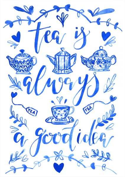 Milly England Tea hand lettering 2