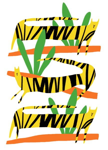 Three Yellow Tigers
