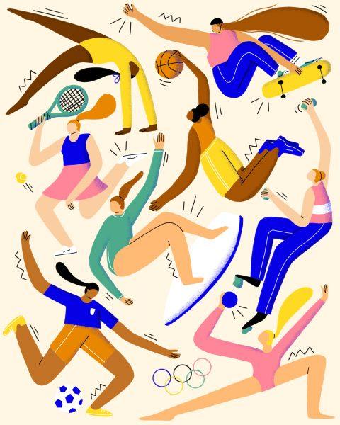 Tokyo 2020 Olympics Illustration