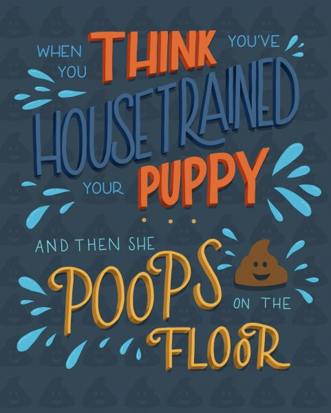 Handlettering - Housetrained puppy