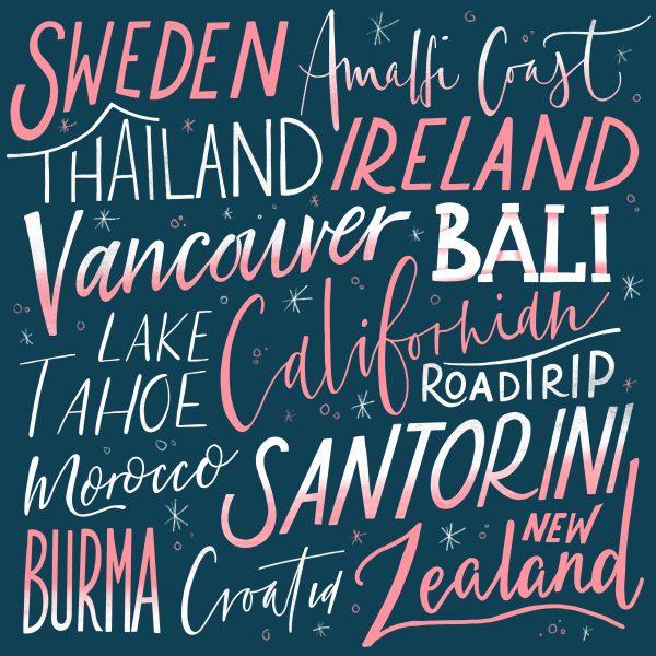 Handlettering - Travel Bucketlist