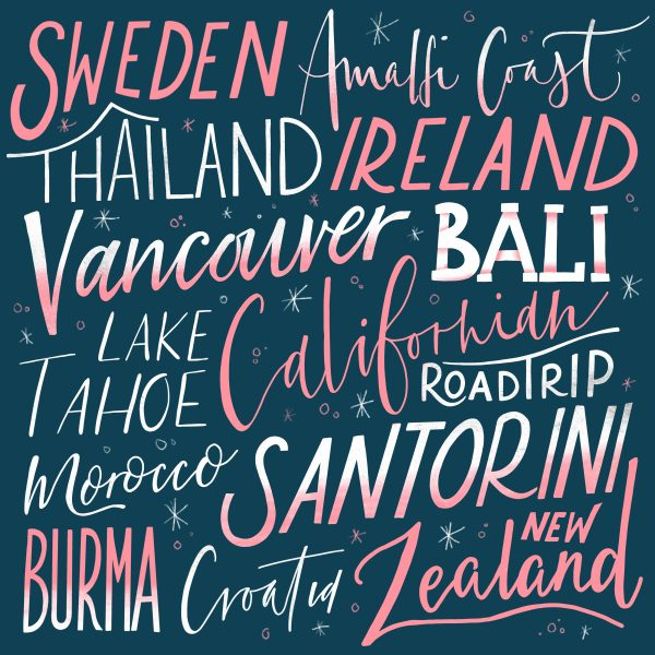 Handlettering - Travel Bucketlist