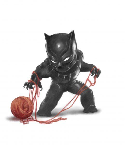 black panther chibi