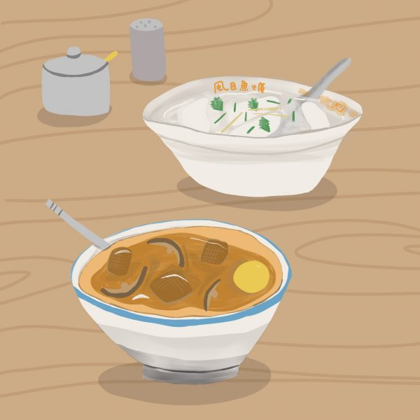Rice cake and soup