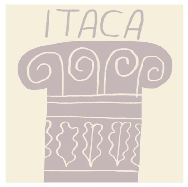 greetings from itaca coming back return greek classic illustration card mercedes leon merchesico