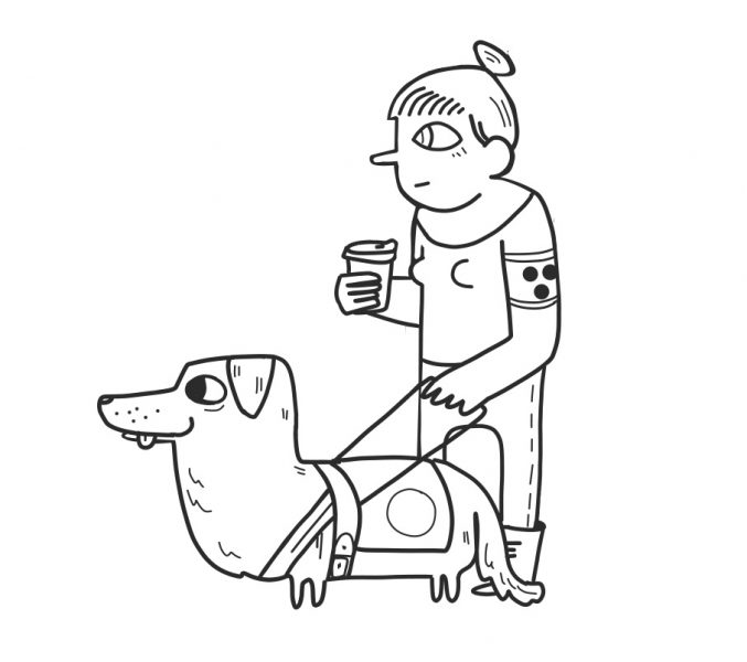 Guide Dog from Wimmelpicture