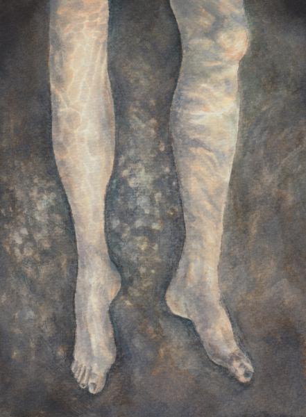 Legs underwater