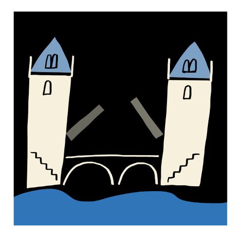 london tower bridge illustration mercedes leon merchesico