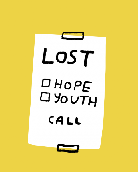 lost hope youth call merchesico illustration lettering funny spanish