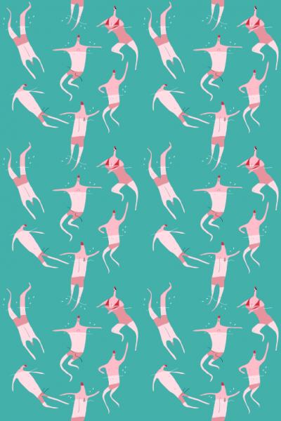 swimmers repeat merchesico illustration
