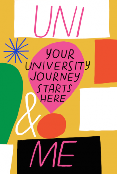 uni and me university journal illustration lettering merchesico