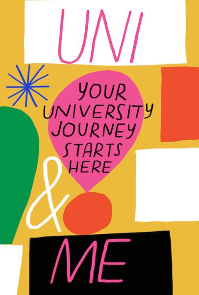 uni and me university journal illustration lettering merchesico