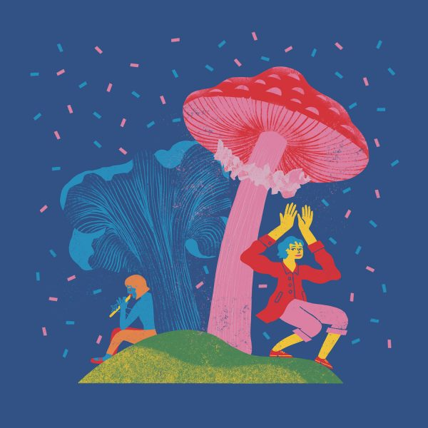 Dancing under mushrooms